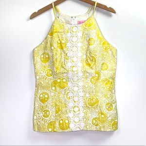 Lilly Pulitzer Yellow White Sunshine Tank Top